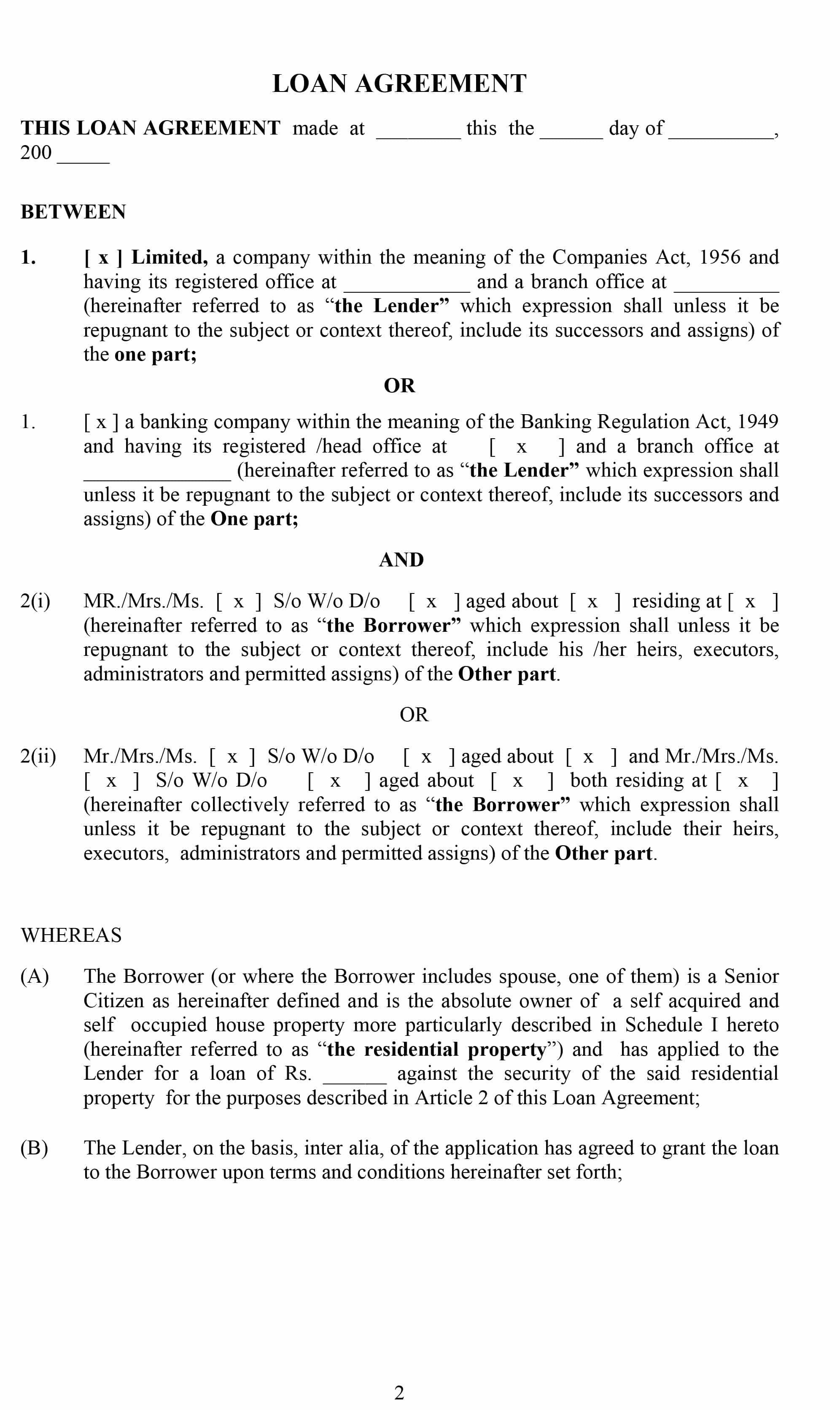 Free Loan Agreement Templates Word  Pdf ᐅ Template Lab In Heads Of Terms Agreement Template