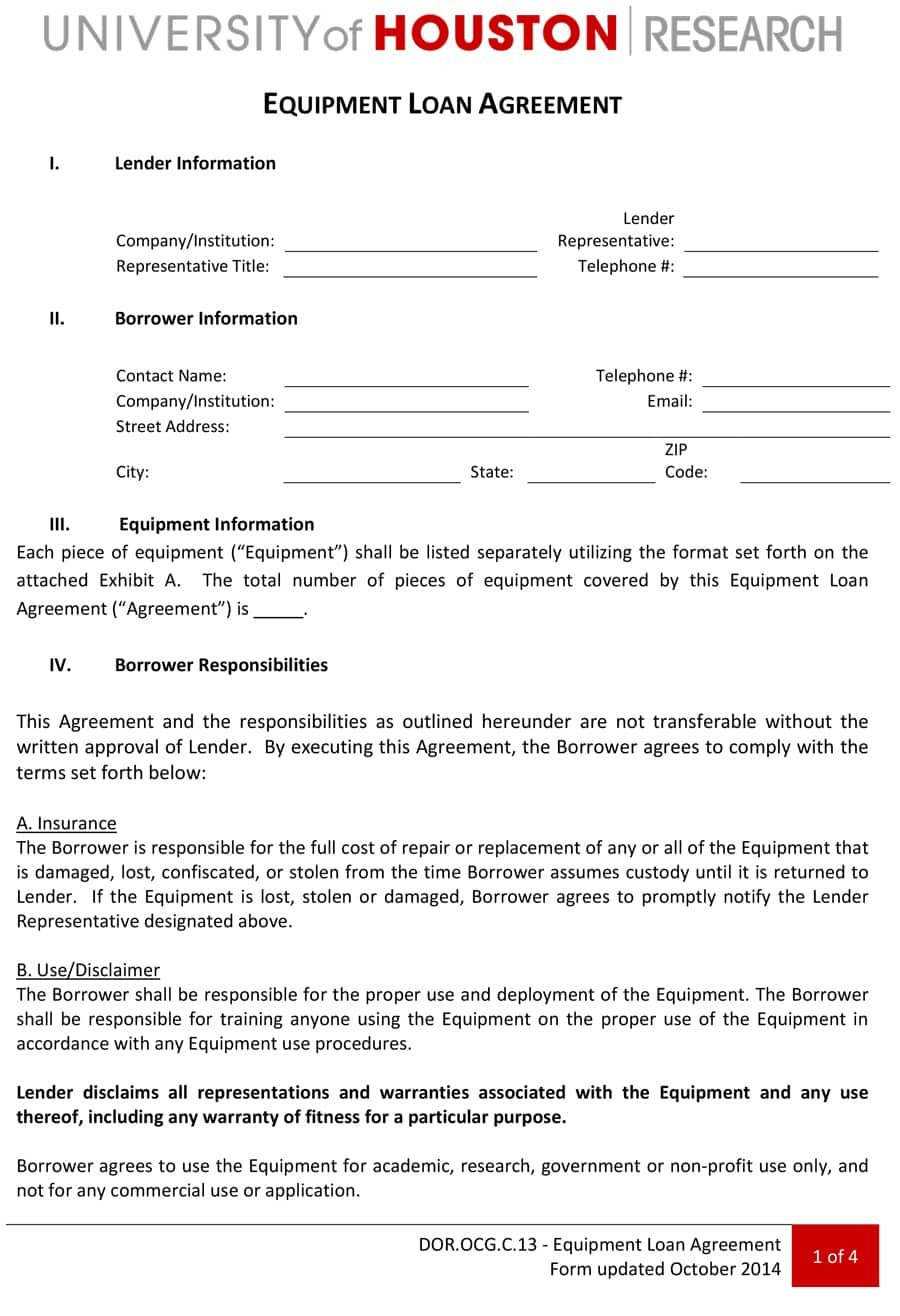 Free Loan Agreement Templates Word  Pdf ᐅ Template Lab Within Credit Application And Agreement Template