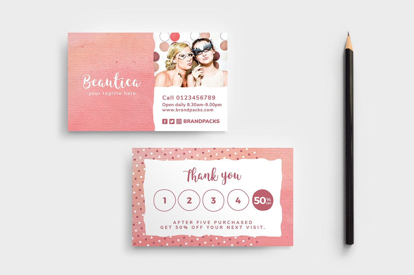 Free Loyalty Card Templates  Psd Ai  Vector  Brandpacks Intended For Customer Loyalty Card Template Free