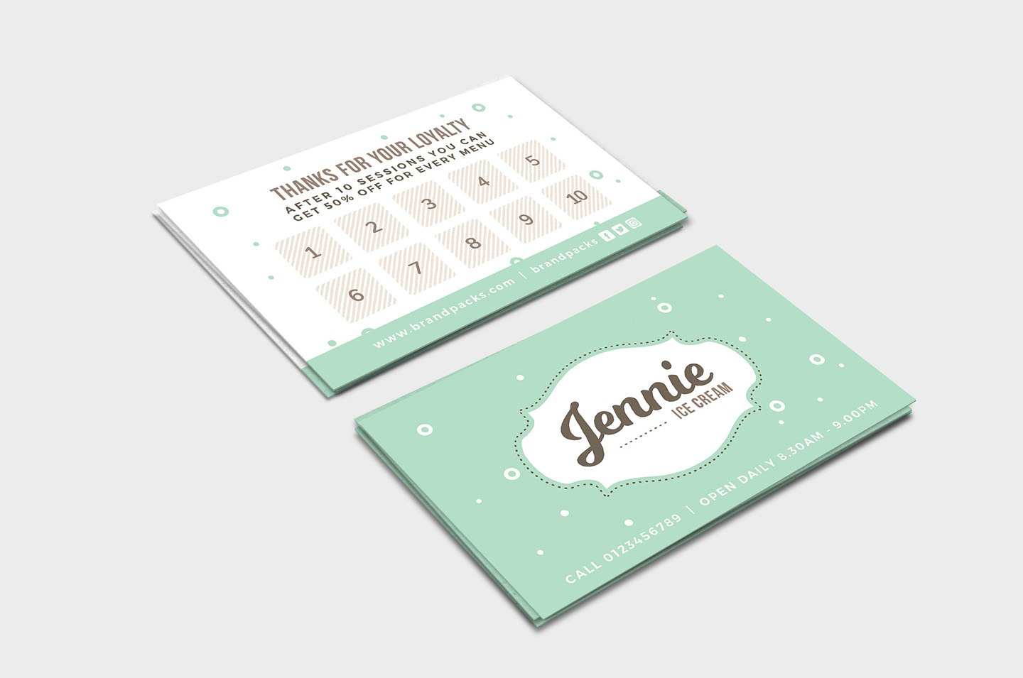 Free Loyalty Card Templates  Psd Ai  Vector  Brandpacks Pertaining To Customer Loyalty Card Template Free