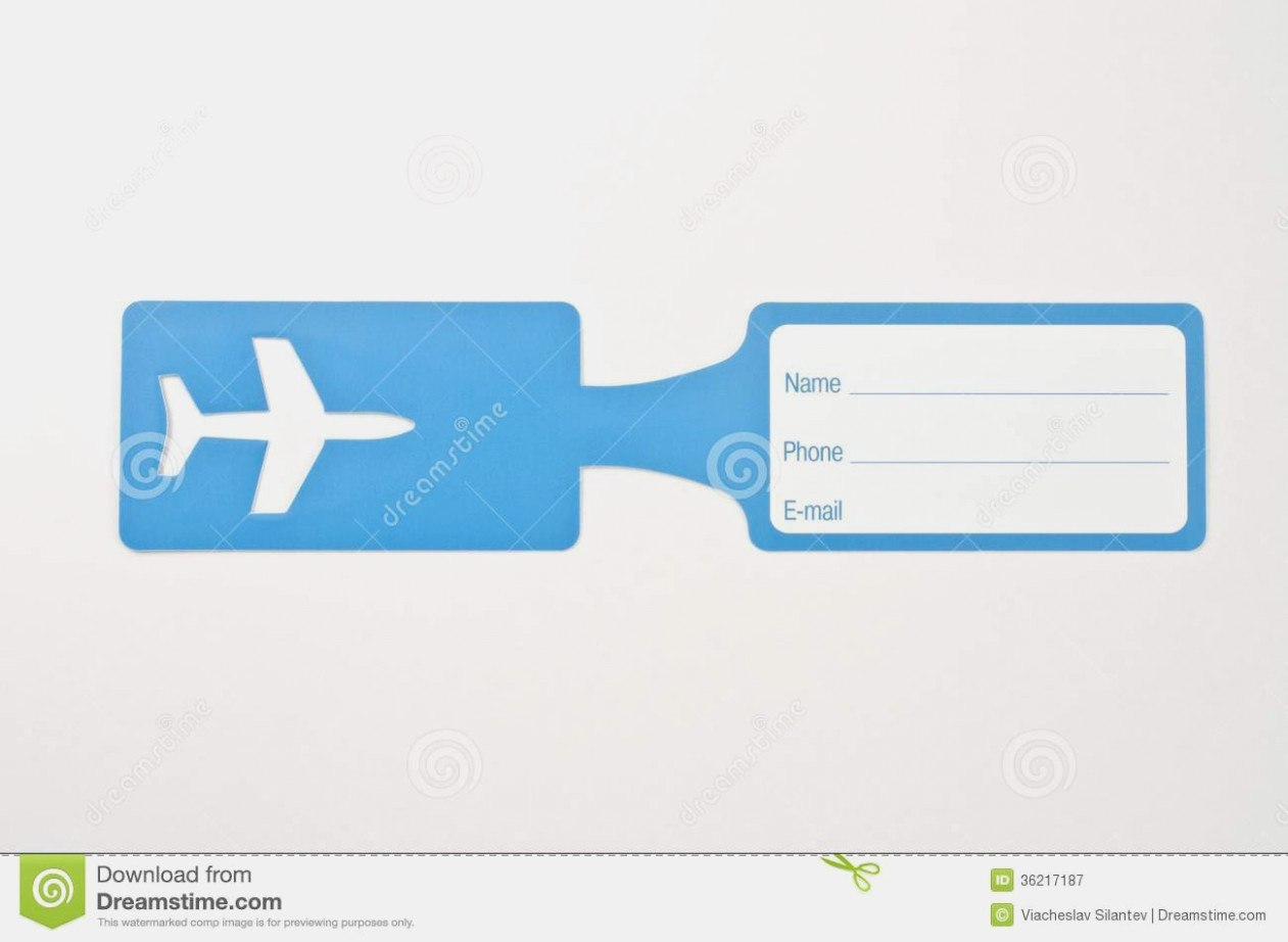 Free Luggage Tag Template Luggage Tag Template Word New Tags Free In Luggage Label Template Free Download
