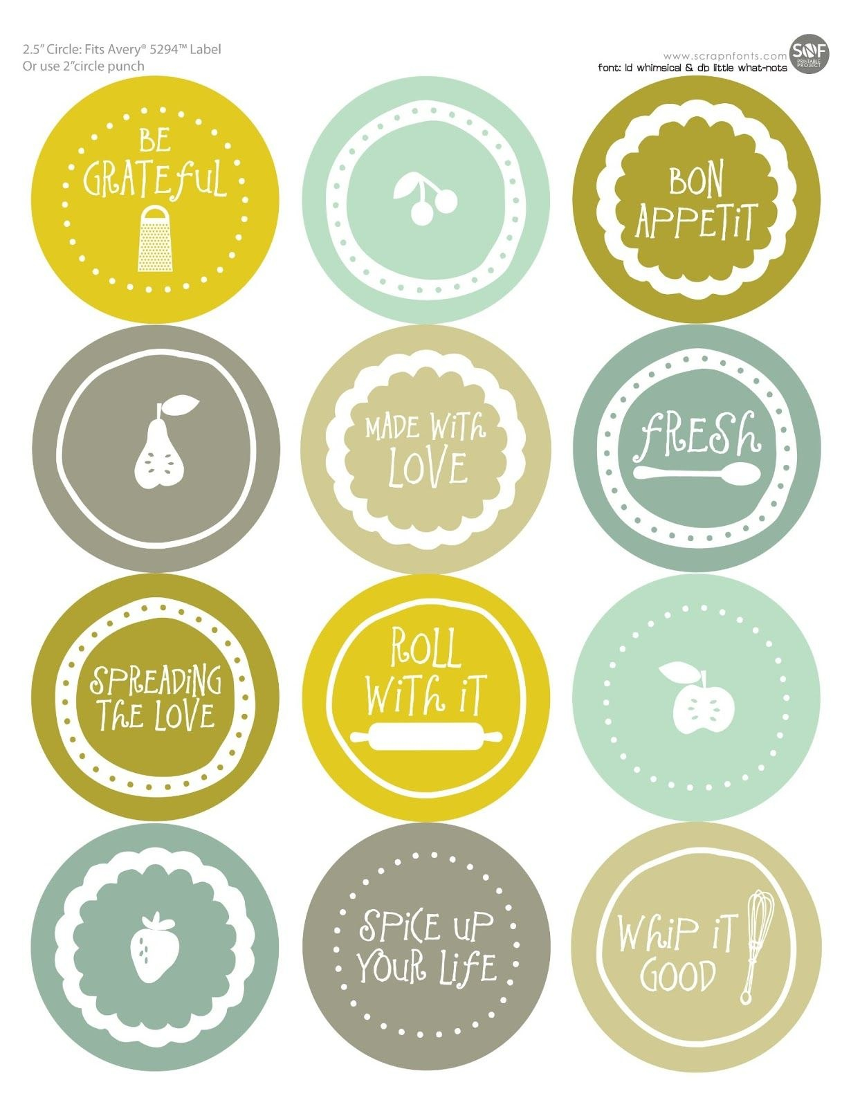 Free Mason Jar Labels To Print  All Wrapped Up  Jar Labels Intended For Canning Jar Labels Template