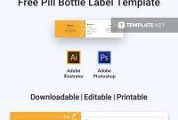 Free Medical Pill Bottle Label  Label Templates  Designs in Adobe Illustrator Label Template