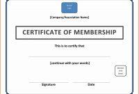 Free Membership Certificate Template  Andrew Gunsberg in Landscape Certificate Templates