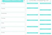 Free Menu Planner Printables  Fab N' Free in Weekly Dinner Menu Template