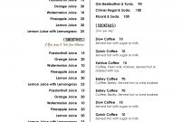 Free Menu Template For Word Drink Yelom Digitalsite Co intended for Free Cafe Menu Templates For Word