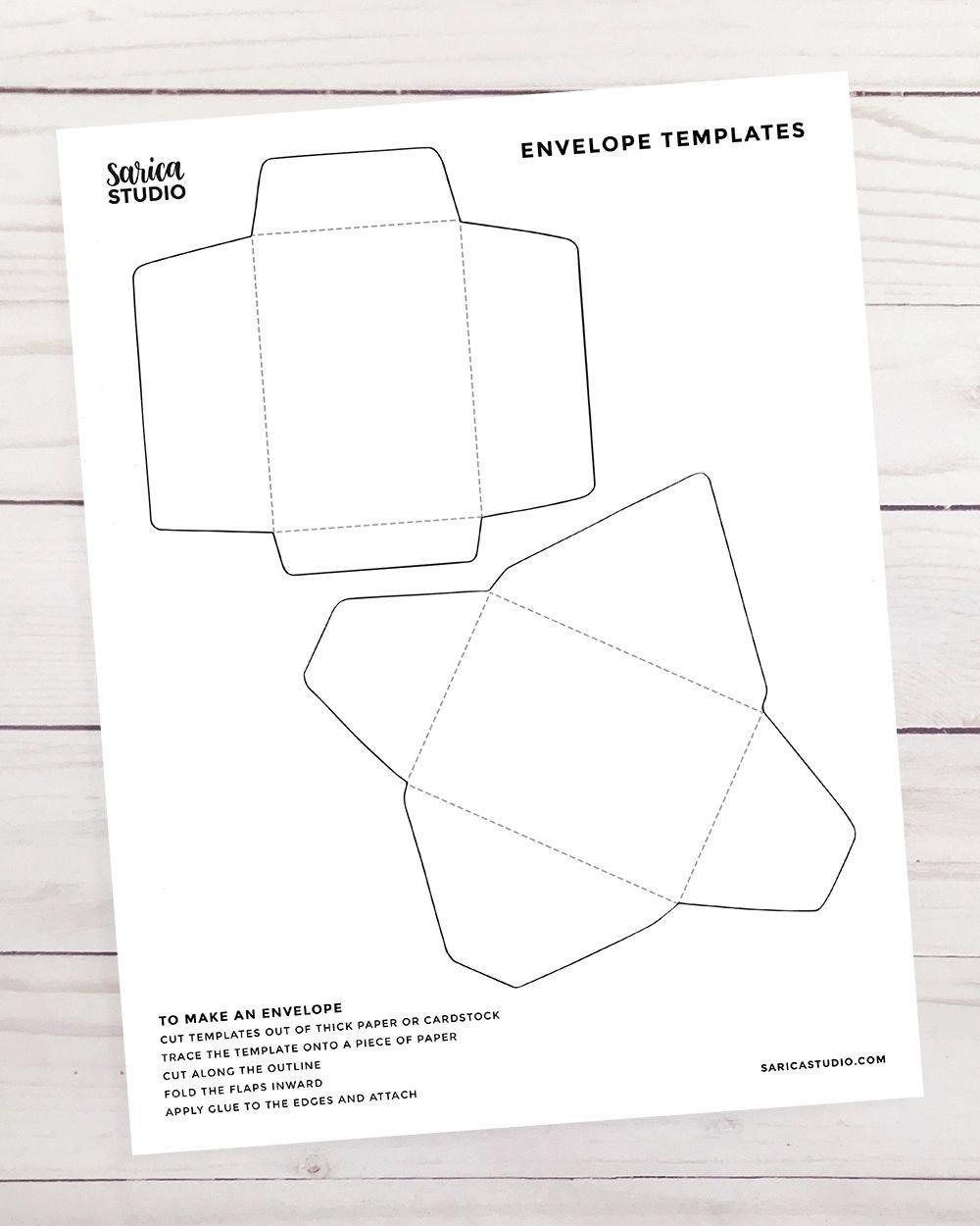 Free Mini Envelope Templates  Mini Envelopes  Envelope Template Pertaining To Envelope Templates For Card Making