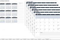 Free Monthly Calendar Templates  Smartsheet intended for Month At A Glance Blank Calendar Template