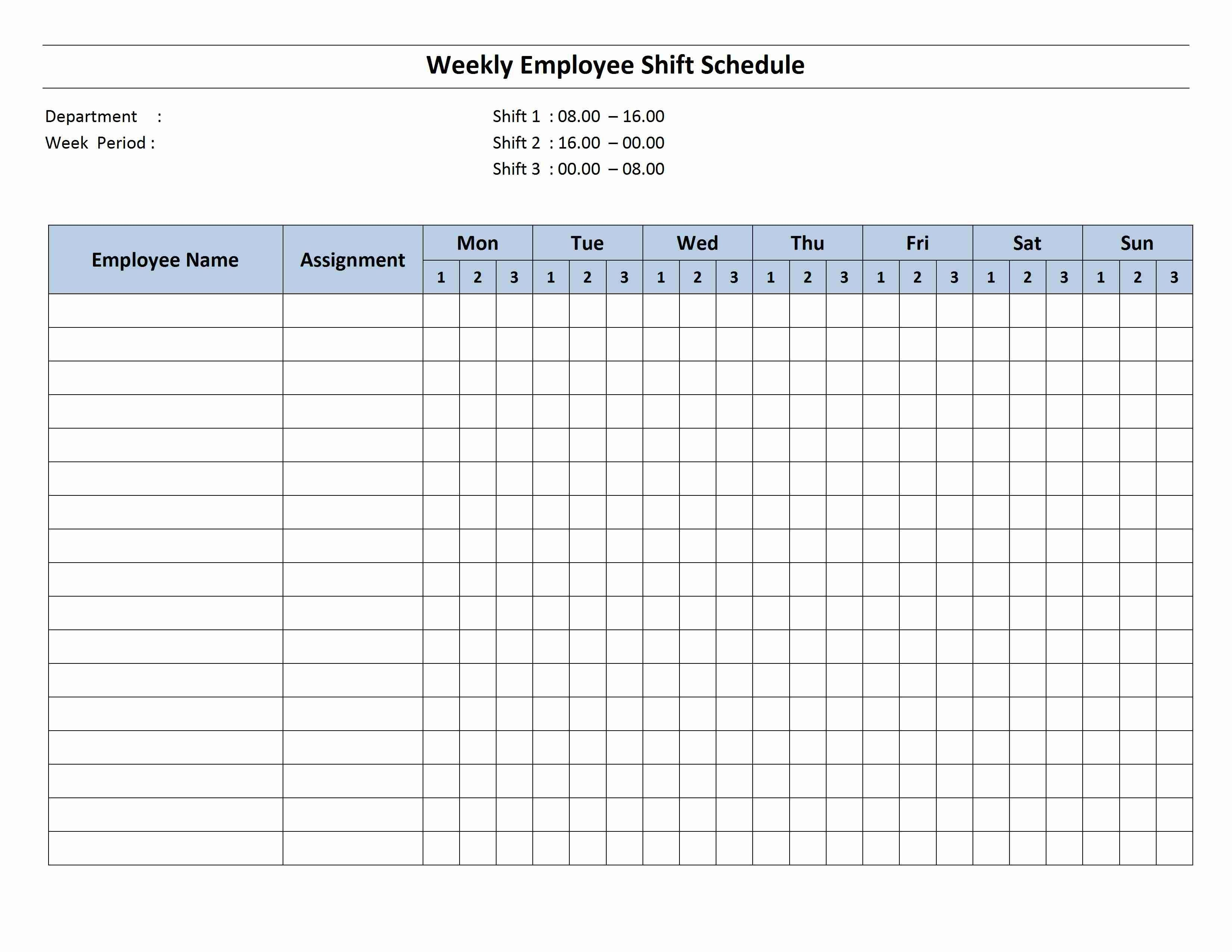 Free Monthly Work Schedule Template  Weekly Employee  Hour Shift With Regard To Printable Business Hours Sign Template