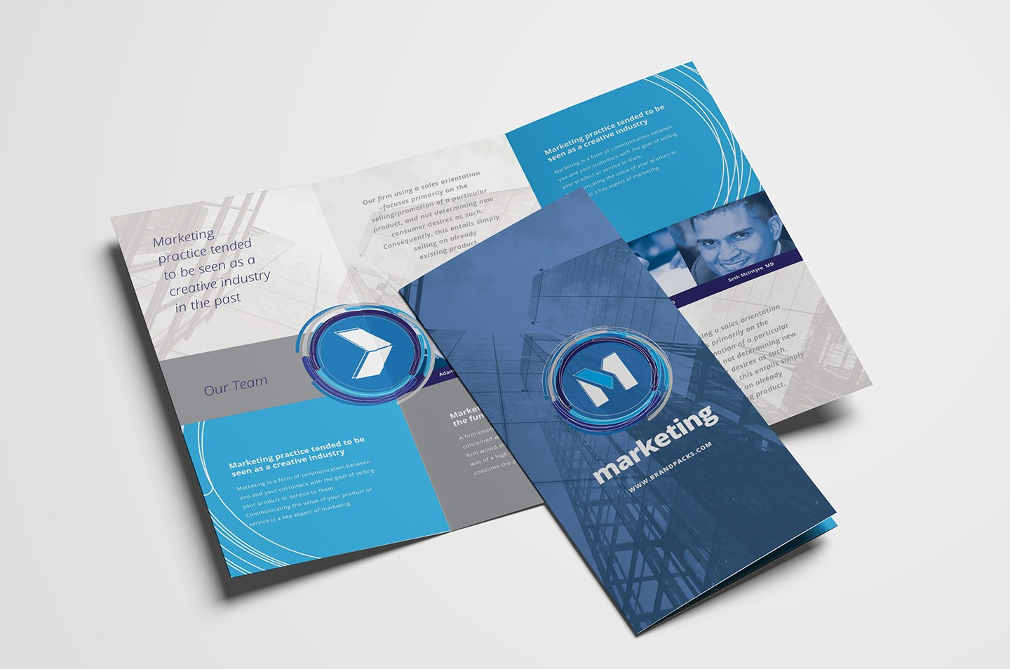 Free Multipurpose Trifold Brochure Template For Photoshop Inside Three Panel Brochure Template