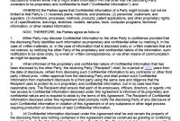 Free Mutual Nondisclosure Agreement Nda Template  Pdf  Word in Mutual Non Disclosure Agreement Template