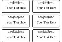 Free Name Tag  Badge Templates ᐅ Template Lab with regard to Visitor Badge Template Word