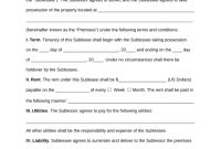 Free New York Sublease Agreement Template  Pdf  Word  Eforms throughout Handover Agreement Template