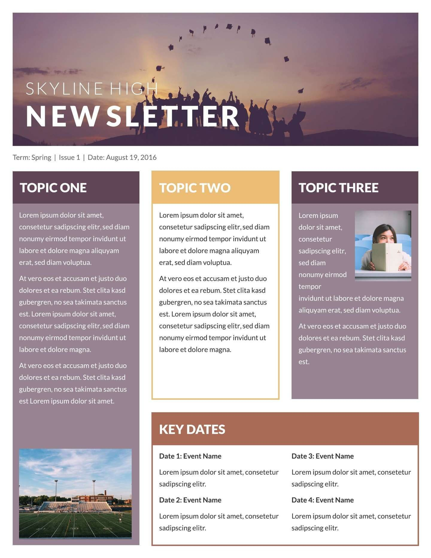 Free Newsletter Templates  Examples  Ela  Newsletter Template For Free Business Newsletter Templates For Microsoft Word