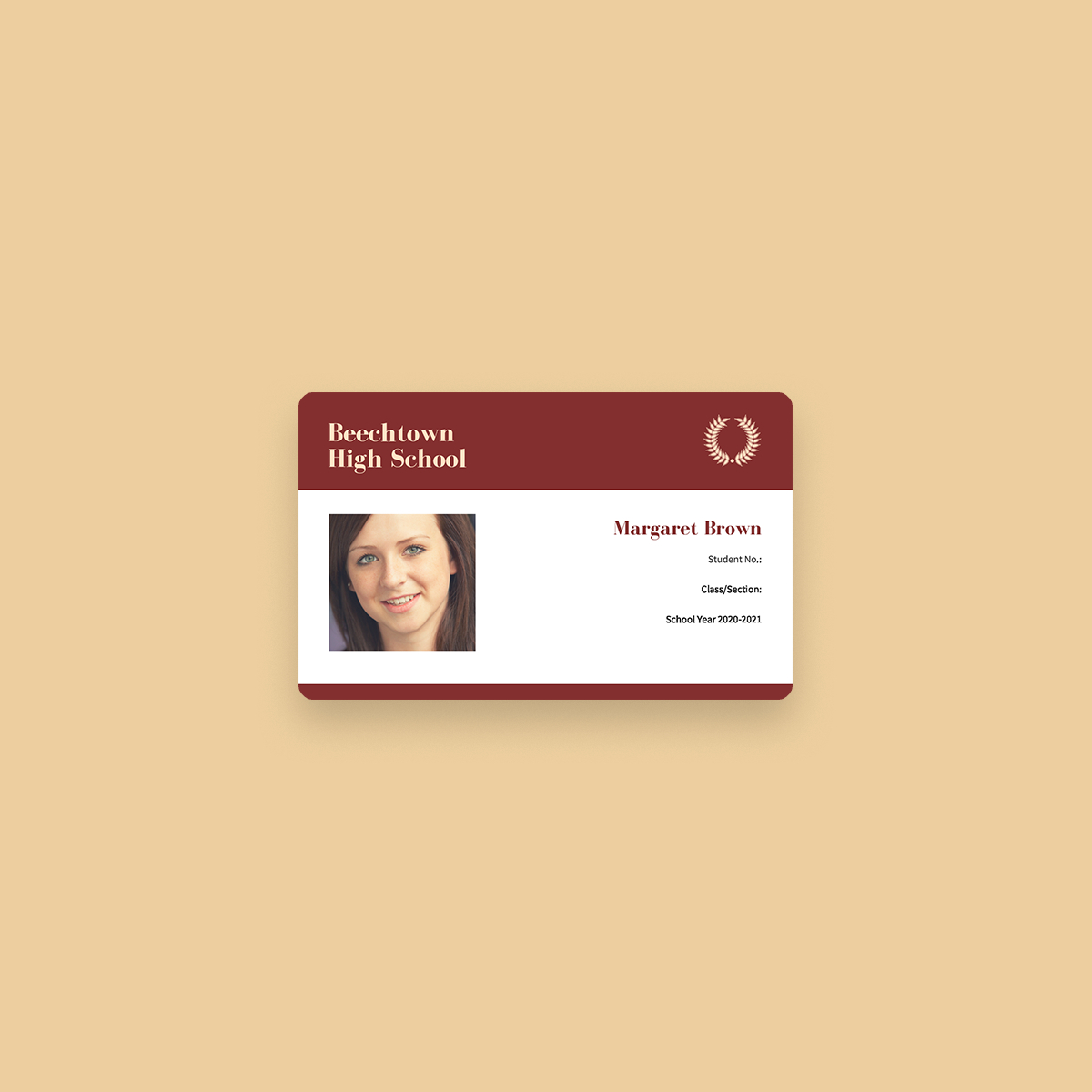 Free Online Id Maker Design A Custom Id In Canva For High School Id Card Template
