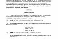 Free Operating Agreement Template Ideas Magnificent Missouri Llc regarding Corporation Operating Agreement Template