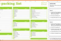 Free Packing List Template  Andrew Gunsberg with Blank Packing List Template