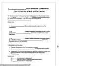 Free Partnership Agreement Form Pdf Sample Business Contract throughout Business Partnership Agreement Template Pdf