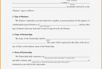 Free Partnership Agreement Template Simple Business Partnership within Free Simple General Partnership Agreement Template