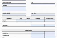 Free Pay Stub Template Download Wonderfully  Free Blank Pay Stub for Blank Pay Stub Template Word