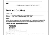 Free Personal Loan Agreement Templates  Samples Word  Pdf inside Personal Loan Repayment Agreement Template
