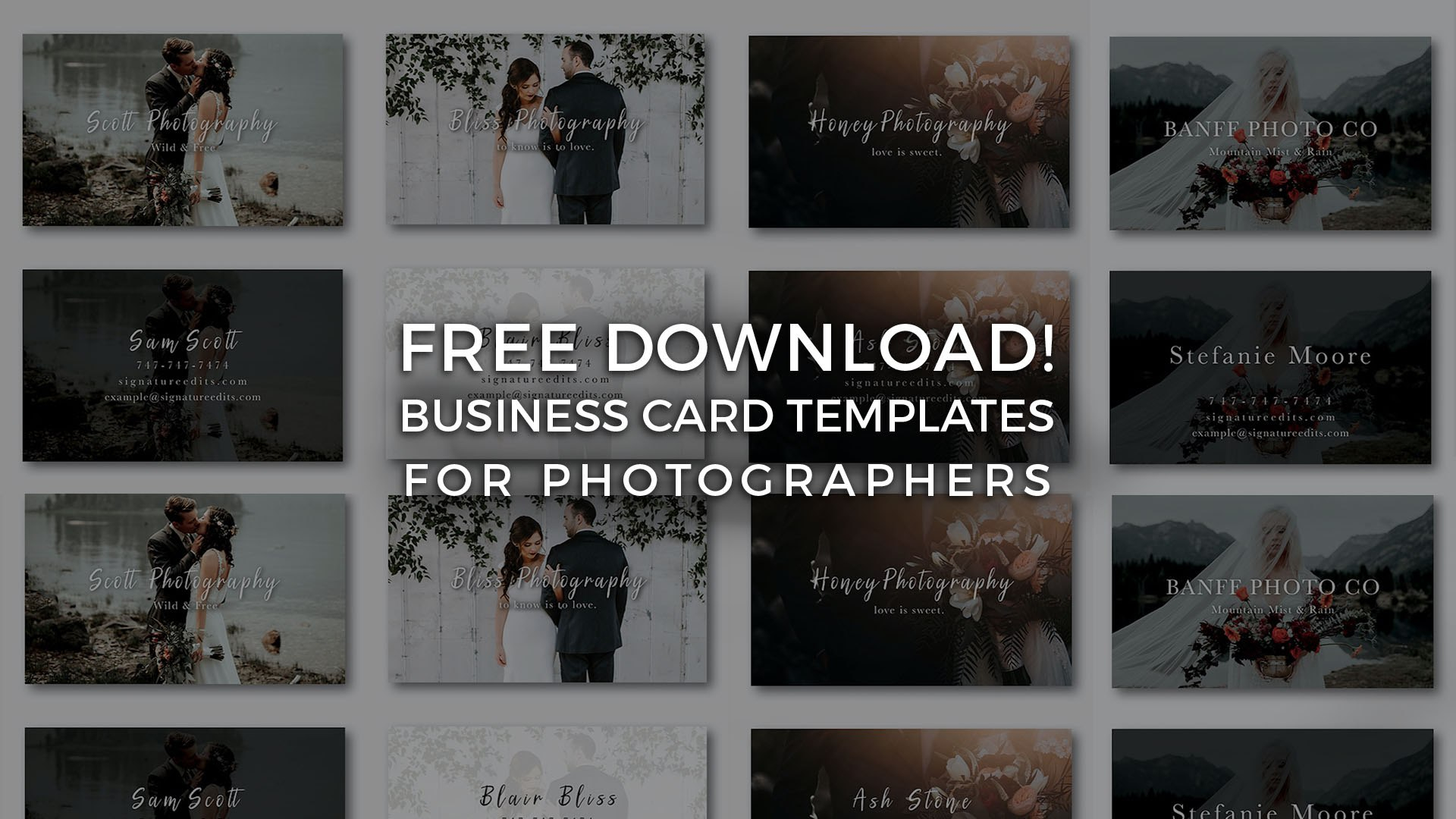 Free Photographer Business Card Templates  Signature Edits  Edit With Free Business Card Templates For Photographers