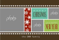 Free Photoshop Christmas Card Templates Images  Photoshop within Christmas Photo Card Templates Photoshop