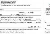 Free Pledge Card Template  Charlotte Clergy Coalition within Free Pledge Card Template