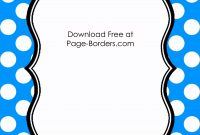 Free Polka Dot Borders  Fonts  Border Templates Borders For Paper throughout Free Label Border Templates