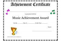 Free Printable Achievement Award Certificate Template  Recitals in Choir Certificate Template