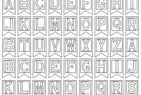 Free Printable Alphabet Letters  Banner Flag Letter Pdf Templates intended for Free Letter Templates For Banners