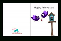 Free Printable Anniversary Cards with regard to Anniversary Card Template Word