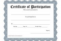 Free Printable Award Certificate Template  Bing Images   Art for Certificate Of Participation Template Doc