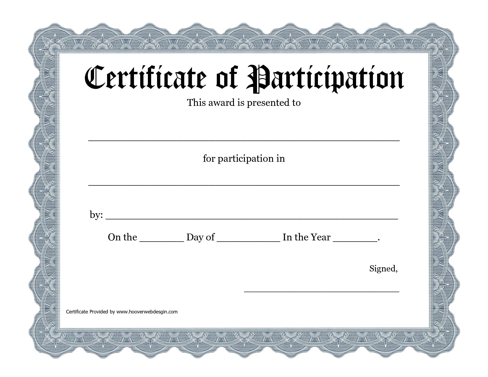 Free Printable Award Certificate Template  Bing Images   Art Within Templates For Certificates Of Participation