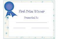 Free Printable Award Certificate Template  Free Printable First intended for Generic Certificate Template
