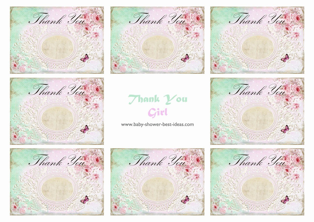 Free Printable Baby Shower Thank You Cards Pertaining To Template For Baby Shower Thank You Cards