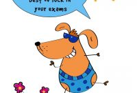 Free Printable Best Of Luck In Your Exams Greeting Card regarding Good Luck Card Templates