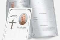 Free Printable Bi Fold Funeral Program Template With Uk Plus with regard to Memorial Brochure Template