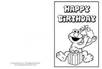 Free Printable Birthday Cards  Clay  Bday  Free Printable within Elmo Birthday Card Template