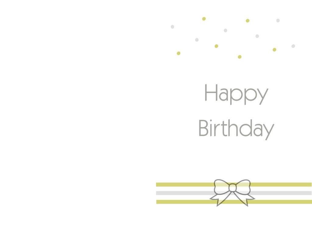 Free Printable Birthday Cards Ideas – Greeting Card Template  It Regarding Template For Cards To Print Free