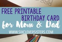 Free Printable Birthday Cards To Color  Dad Card  Dad Birthday intended for Mom Birthday Card Template