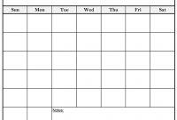 Free Printable Blank Calendar  Calendars with Blank Calander Template