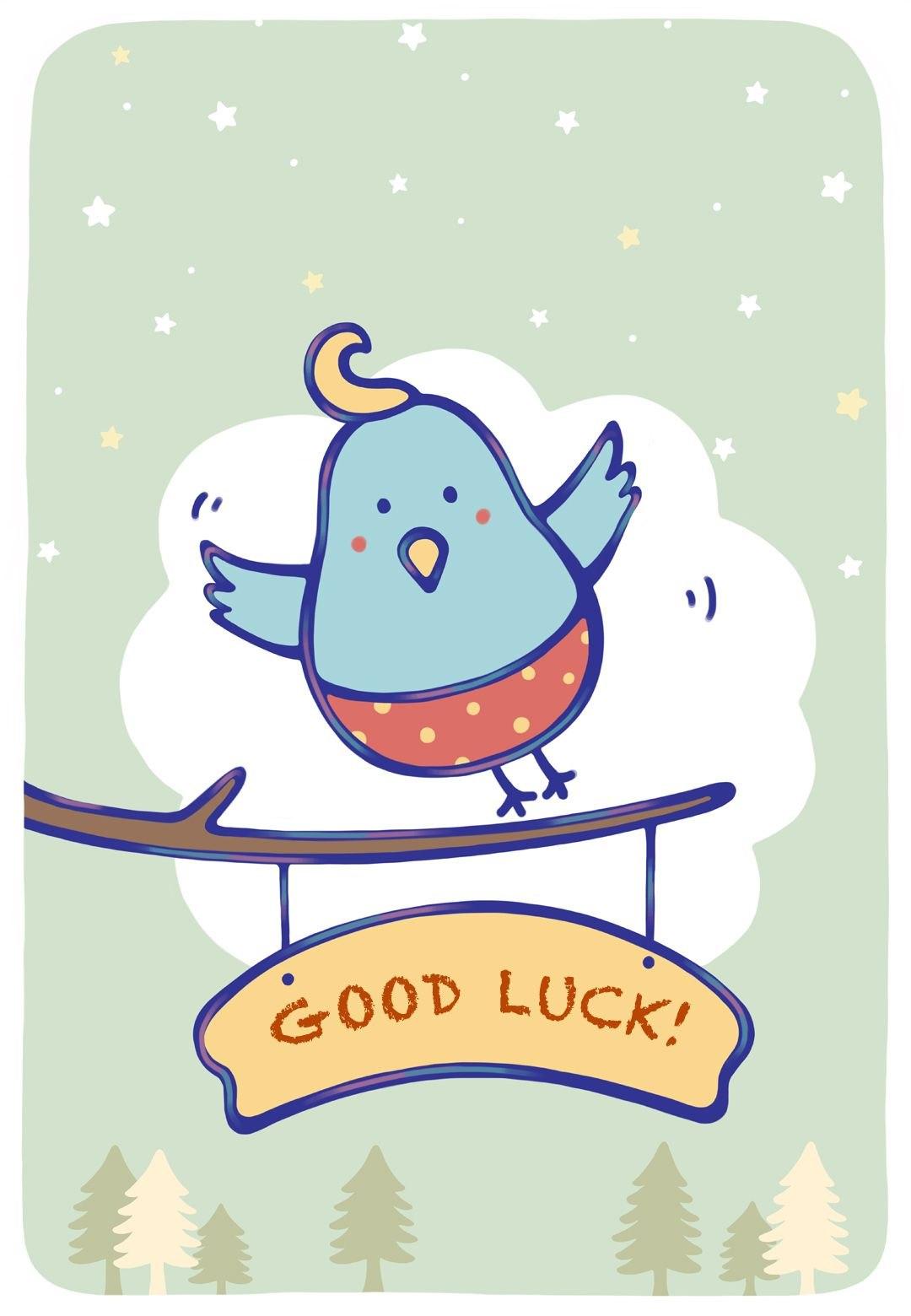 Free Printable Bluebird Of Happiness Greeting Cardlittlestar Regarding Good Luck Card Template