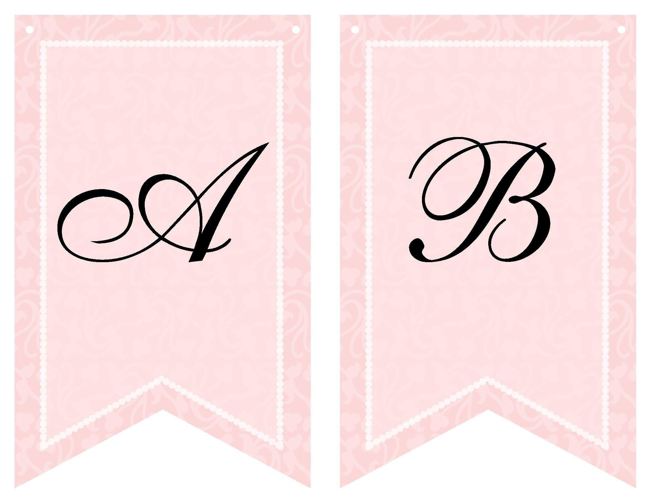 Free Printable Bridal Shower Banner  Vow Renewal  Bridal Shower For Free Bridal Shower Banner Template