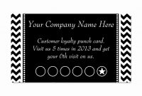 Free Printable Business Card Template And Business Punch Card with regard to Free Printable Punch Card Template