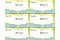 Free Printable Business Cards Template Awesome Free Printable pertaining to Free Editable Printable Business Card Templates