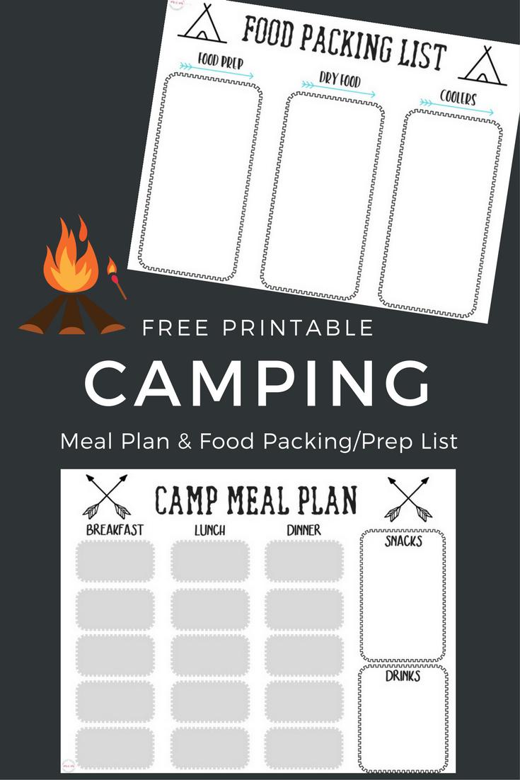 Free Printable Camping Food List  Menu Plan  Must Have Mom Regarding Camping Menu Planner Template