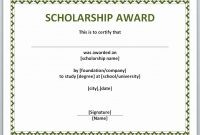Free Printable Certificate Templates Best Of Award Certificate With pertaining to Scholarship Certificate Template Word