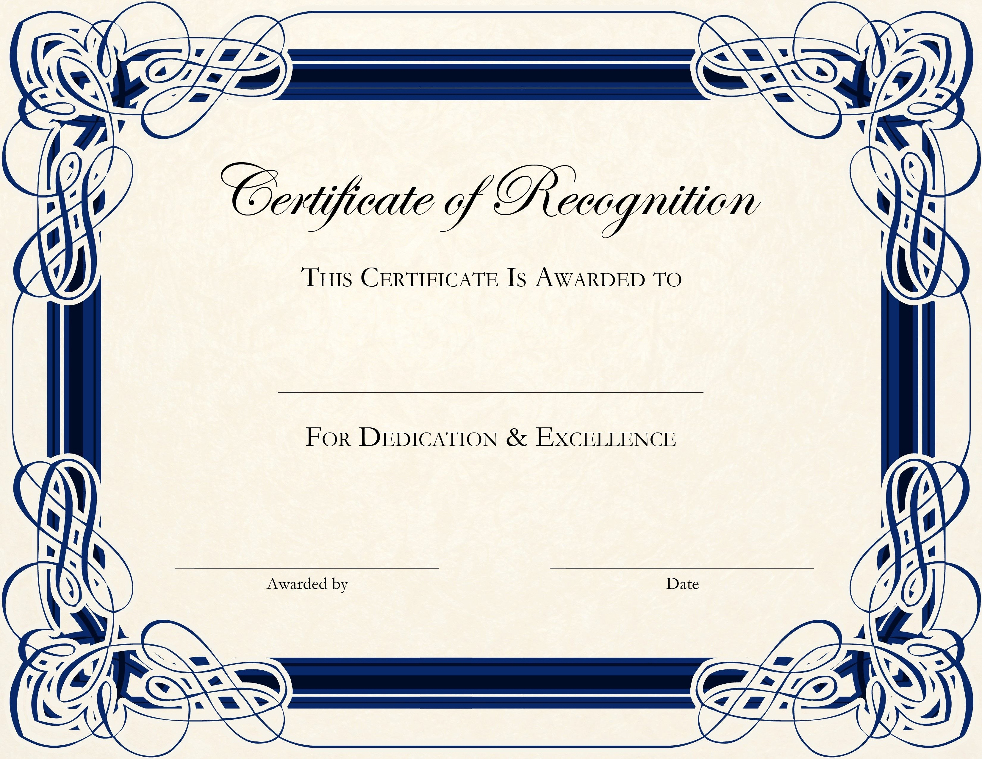 Free Printable Certificate Templates For Teachers  Besttemplate With Free Printable Certificate Of Achievement Template