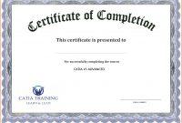Free Printable Certificate Templates Of Completion Template in Certificate Of Participation Template Pdf